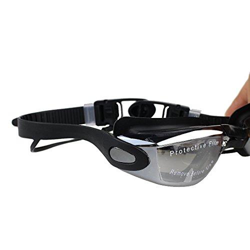 Schleife grandes oídos de con tapones para unisex para negro adultos lente y protección negro transparente natación Gafas Rosa UV antivaho Sd1n8xwtqq