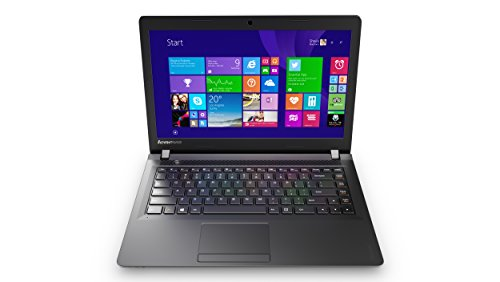 Lenovo Ideapad 100 35,6 cm (14 Zoll HD) Notebook (Intel Pentium N3540 Quad-Core Prozessor, 2,66GHz, 2GB RAM, 500GB HDD, Intel HD Grafik, Windows 10) schwarz