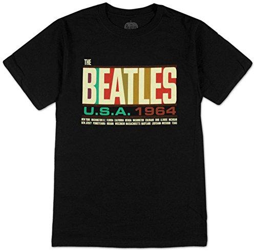 The Beatles- USA 1964 T-Shirt Size S (Beatles Black T-shirt)