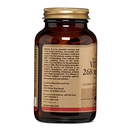 Solgar Vitamin E 400 IU Mixed Softgels (d-Alpha Tocopherol & Mixed Tocopherols)