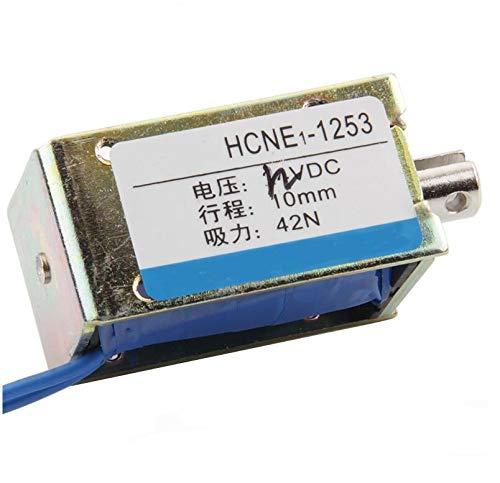 MAO YEYE 12V 24V 10mm Stroke 4.2kg 42N Force Electromagnet Solenoid HCNE1-1253
