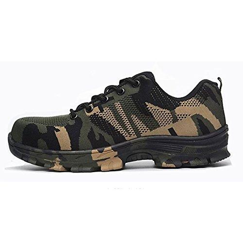 CHNHIRA Chaussures de Sécurité Homme Embout Acier Protection Confortable Léger Respirante Unisexes Chaussures de Travail 2
