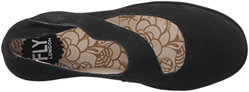 Jane Noir Suede Yasi682fly mary London Bout Fly Fermé Femme Black compensée à AZwRHnxztq
