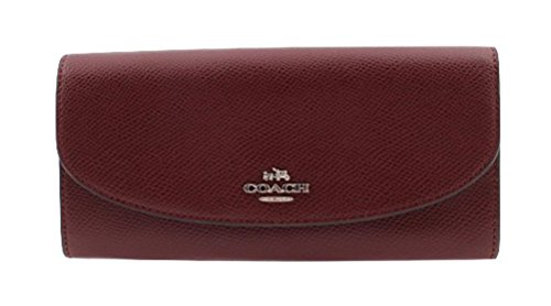 COACH Slim Envelope Wallet in embossed Crossgrain Leather - F54014 SVBG2