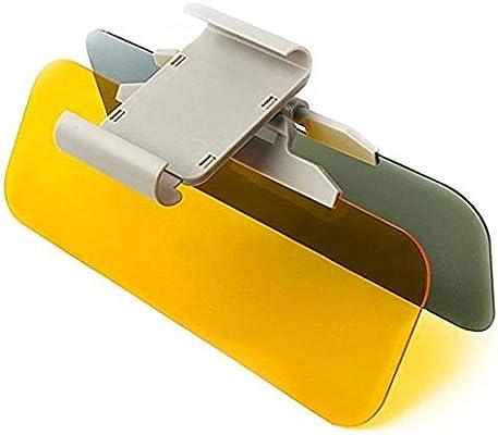 Large Car Visor XPLUS Upgrade Car Day and Night Anti-Glare Visor 2 in 1 Automobile Sun Anti-UV Block Visor Non Glare Anti-Dazzle Sunshade Mirror Goggles Shield for Driving Goggles