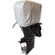Occult LLC Boat Motor Covers: 25HP - 225HP   Water & UV Protection   Fits Outboard Engines   Light Grey
