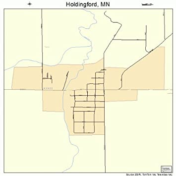 Amazon.com: Large Street & Road Map of Holdingford ...
