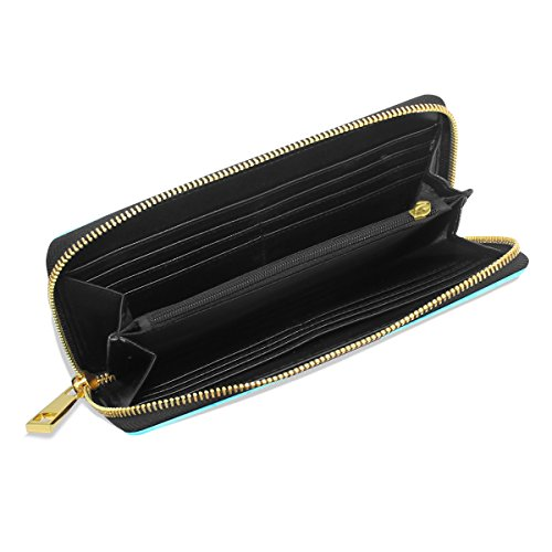 Handbags Clutch Indian Womens And Organizer Purses TIZORAX Around Zip Elepnant Wallet qTU10wx7