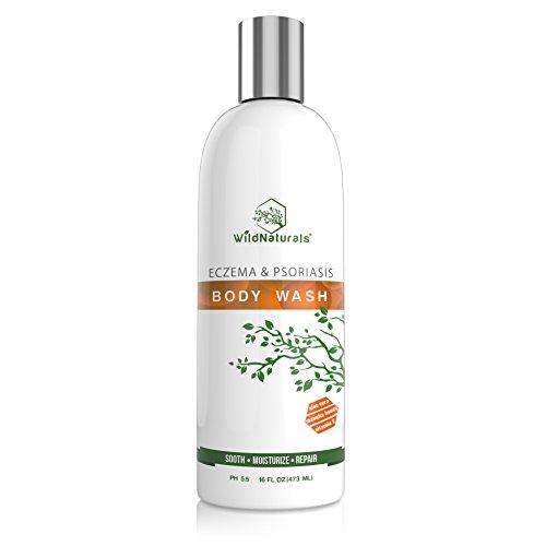 Wild Naturals Eczema & Psoriasis Soothing Body Wash 16oz (Wash Contact Skin)