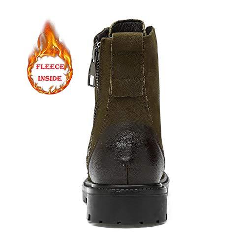 De High Outsole Casual Hombres 37 Warm Los Tamaño Cotton Para Hombre Khaki Opcional Color convencional Tobillo Soft Black Cómodos Zapatos Botas Trabajo Eu 2018 wt8zf7