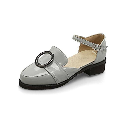 Unique Peu Gray avec Occasionnels Bouche Sandales Grande Baotou Taille d'été Chaussures Vêtements épais XwTHqBvan