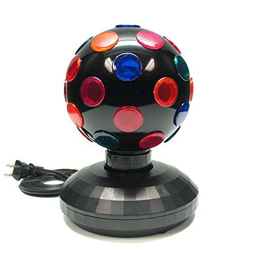 5'' Rotating Disco Ball (Black) by Unido Box