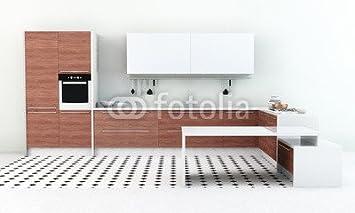 Alu Dibond Bild 120 X 70 Cm Moderne Kuchenzeile In Kuche
