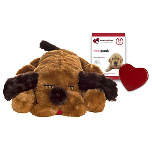 Smart Pet Love Snuggle Puppy Behavioral Aid Toy, Brown Mutt (Puppy Packs Pet)