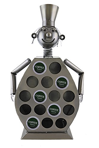 Atlantic Collectibles Large Professional Chef Kitchen Coffee Capsule Pod K-Cup Holder 20''H Hand Made Steel Caddy Rack by atlanticcollectibles