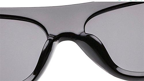 caja sol mujer para beige gris semicirculares Drawihi Gafas de HqwW7S