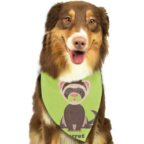Ferret Animal Pack Dog Bandana Washable Triangle Cat Scarf Hawaiian Style