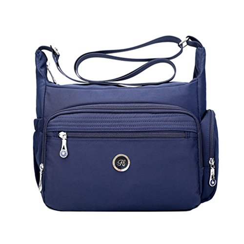 Fabuxry Crossbody Handbag for Women Organize Pack Shoulder Bag Messenger Purses (Navy)