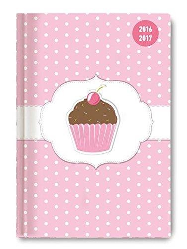 Collegetimer Pocket Cupcake 2016/2017 - Schülerkalender A6 - Day By Day - 352 Seiten