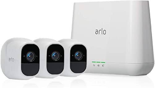 Arlo Pro 2 – Wireless Home Security Camera System with Siren Rechargeable, Night vision, Indoor Outdoor, 1080p, 2-Way Audio, Wall Mount Cloud Storage Included 3 camera kit VMS4330P