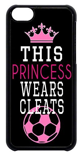 ess Wears Cleats Soccer Girl Apple iPhone Custom Case iPhone 5/5S/SE inch Durable Snap on ()
