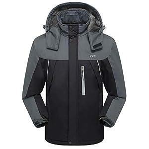 YXP Men's Waterproof Mountain Jacket Fleece Windproof Ski Jacket