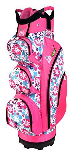 Birdie Babe Flower Power Pink Womens Golf Cart Bag (Best Discount Golf Equipment Websites)