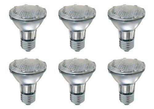 12 Volt Monster® 50PAR20/FL DIMMABLE Par20 * 6 pack * 130v 50W Halogen Spot Light Bulb 50 Watts 130 Volt Edison Screw Flood Lamp PAR20 Replacement (130v Spot)