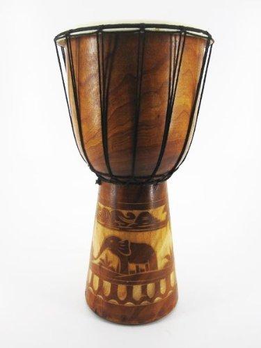 40cm Djembe Trommel Bongo Afrika Art Elefant Braun Super Klang 1