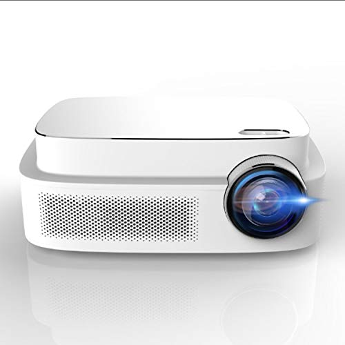 "HD Video Projector, ERISAN HD Video Beam with 200""Display, HiFi Speaker, Quieter Fan, Compatible TV Stick, HDMI, VGA, USB, Laptop etc from ERISAN"