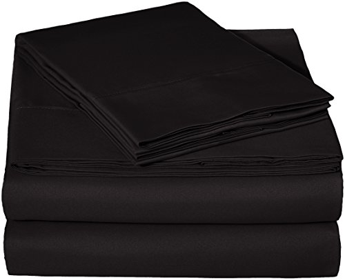 AmazonBasics Microfiber Sheet Set - Full, Black