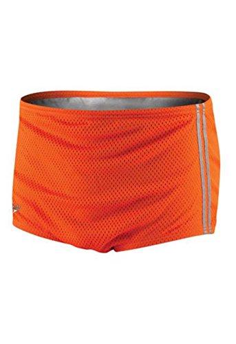 Speedo 705970 Boys Poly Mesh Square Leg Training Suit(Youth), Vibrant Orange, 26