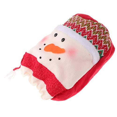 SM SunniMix Cute Water Cooler Cover,Christmas Water Dispenser Bucket Decoration Dustproof - Snowman (Snowman Dispenser Beverage)