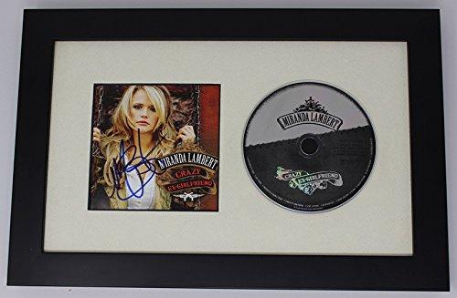 Flower Gallery Music Box (Miranda Lambert Crazy Ex-Girlfriend Beautiful Signed Autographed Music Cd Cover Custom Framed Display Loa)