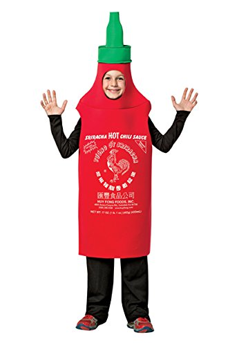 Rasta Imposta Boy's Sriracha Tunic Outfit Funnt Theme Child Halloween Costume, Child M (7-10) Red/Green]()