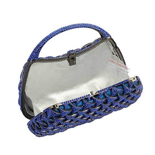 Diamants Dames à à Luxe Sacs Sacs Main Soirée De De Sacs Mode Blue Main Dames De qxzXU05