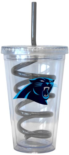 NFL Carolina Panthers Tumbler with Swirl Straw, 16-ounce