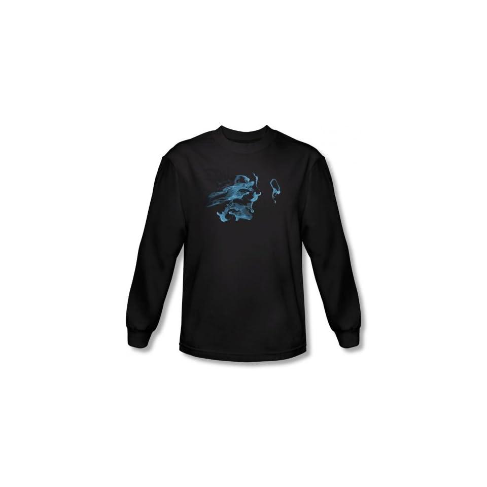 Fringe   Mens Face Glyph Long Sleeve Shirt In Black Clothing
