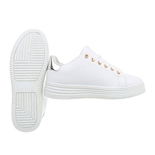 Femme Ital Baskets Weiß design Pour U7zw7q