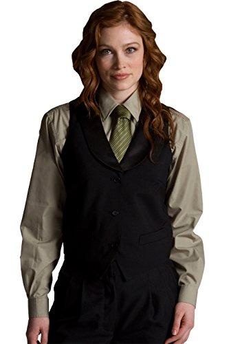 Ed Garments 7495 Women's Black Satin Shawl Vest - Black - ()
