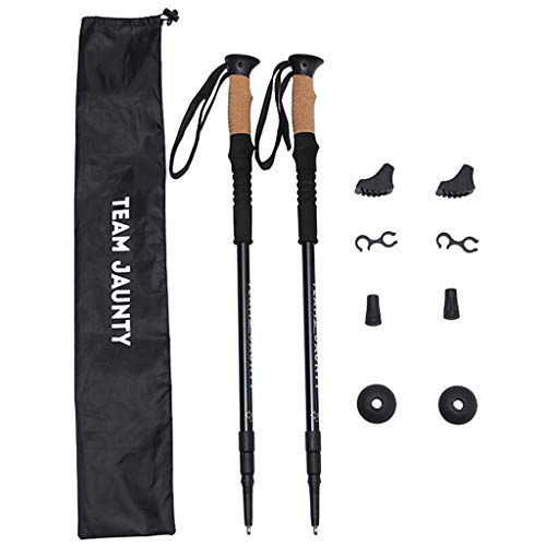 1 Pair Trekking Poles Collapsible Hiking Poles Hiking Walking Poles Lightweight Adjustable Aluminum Sticks Quick Lock System Telescopic Ultralight for Hiking Camping