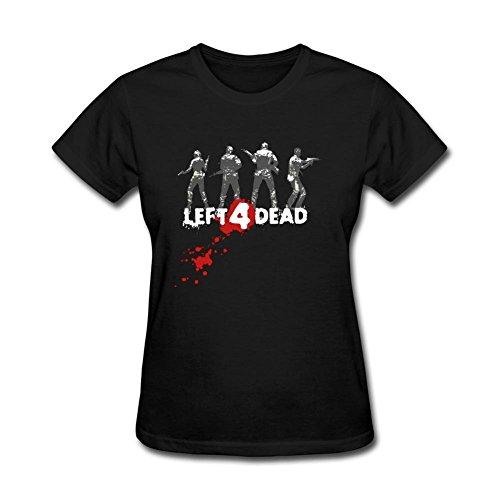 Women's Left 4 Bead DIY Cotton Short Sleeve T Shirt