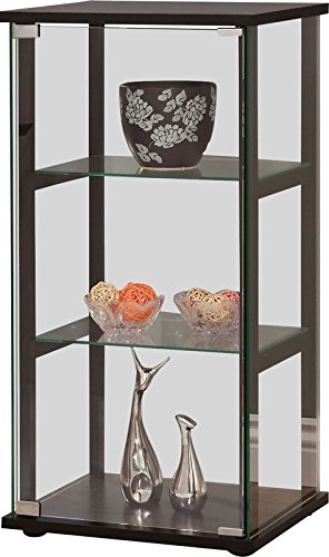 Beau Stylish And Modern Curio Cabinet Made Of Made Of Solid Wood And Glass In  Black Color