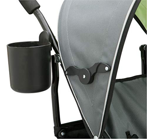 413q4dd F1L - Delta Children LX Side By Side Tandem Umbrella Stroller, Lime & Green