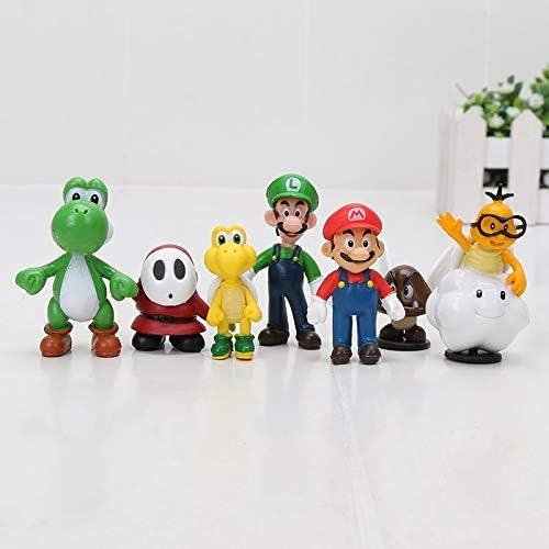 Amazon Com Qianma Mario Toys 18pcs 22pcs Super Mario Bros Yoshi