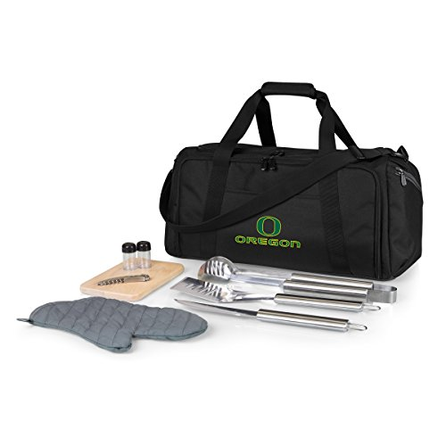 (PICNIC TIME NCAA Oregon Ducks BBQ Kit Cooler Tote with Barbecue & Accessories)