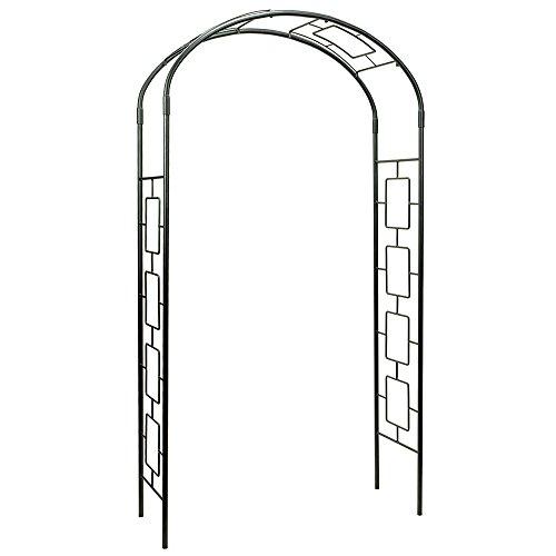 (Achla Designs ARB-11 Modern Metal Arbor Arch,Garden Décor, Graphite )
