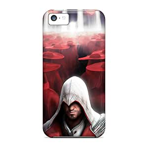 Shock-Absorbing Hard Phone Cases For Iphone 5c With Unique Design Vivid Assassins Creed Image AlissaDubois