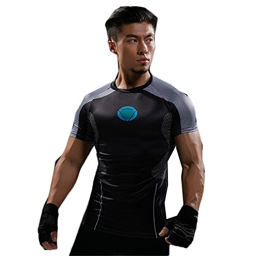 Iron Man Suit Real For Sale (Hero Collection T Shirt Captain America Civil War Tee 3D Printed T-Shirts Men Marvel Avengers 3 Iron Man Fitness Clothing Male Crossfit Tops C52 Asian Size 2XL)