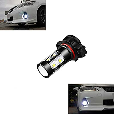 5201 5202 PS19W Fog Light Bulbs LED 50W Extremely Bright 6000K 10 SMD White Xenon Driving Light Bulbs Lamps (Pack of 2): Automotive